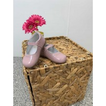 Mercedita charol rosa palo