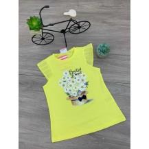 Camiseta margaritas amarilla