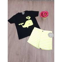Conjunto pantalón + camiseta ballenas niño