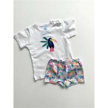 Boxer + camiseta tropical