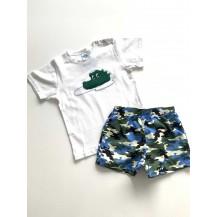 Boxer tela caiman + camiseta