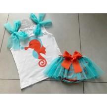 Braguita + camiseta caballito de mar