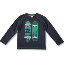 Camiseta manga larga azul patinete verde