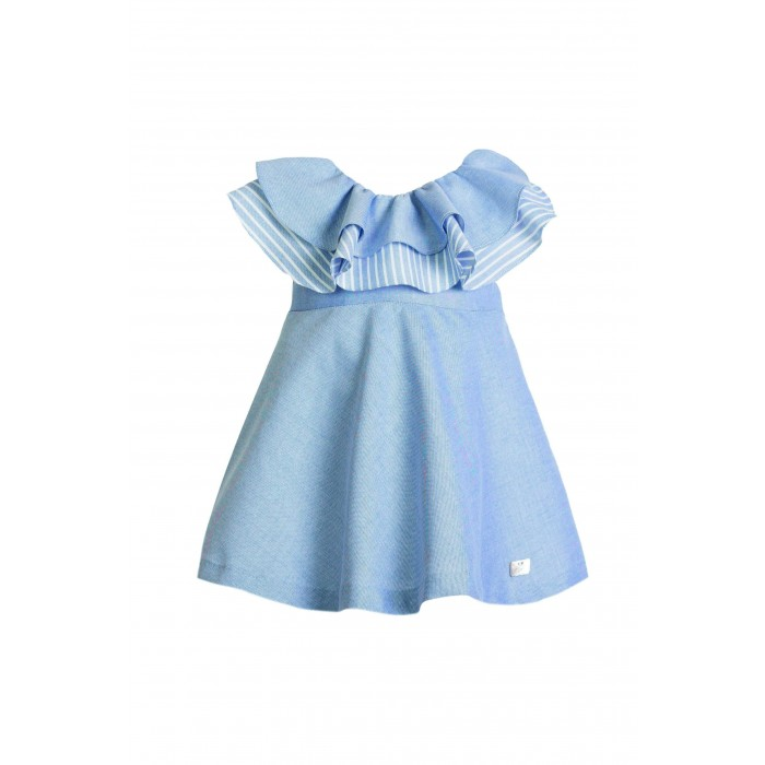 1109c8b67528 Blue dress flying tie back stripes