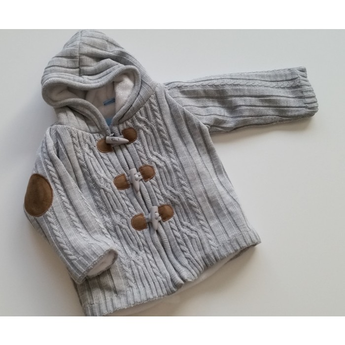 Knitted Jacket Noe Gray Model Spanish Baby Clothes