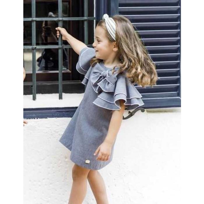 44ba83933908 Dresses. - 60%. SALE. Blue dress denim ruffle ...
