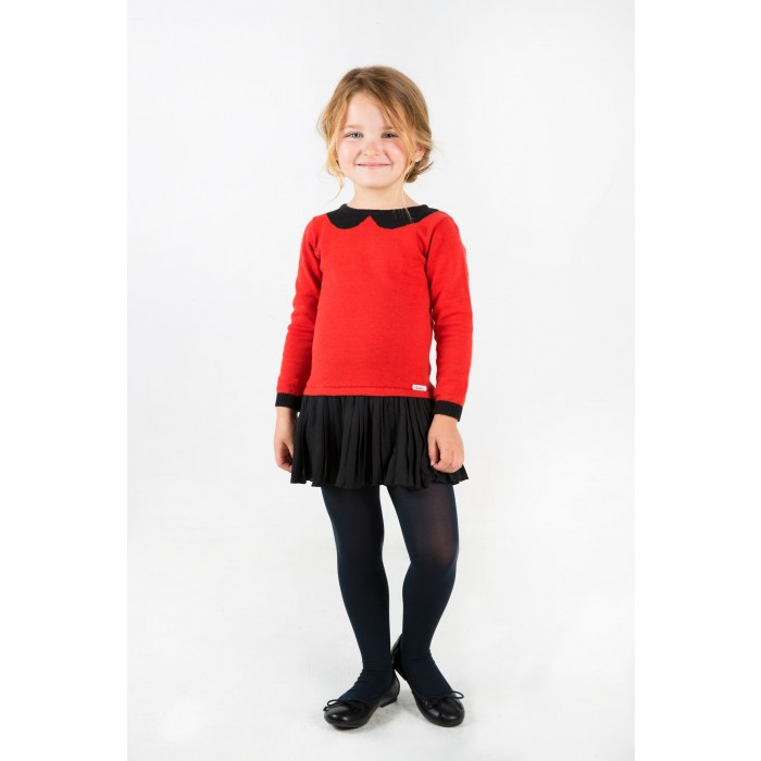 e7f471421d3dd Dress with red and black pleated skirt - Spanish Baby Clothes