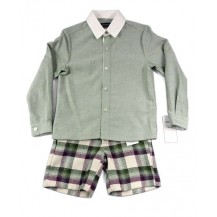 Set boy shorts shorts green / purple and green shirt